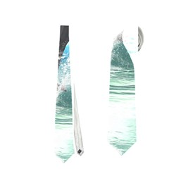 Funny Dolphin Jumping By A Heart Made Of Water Neckties (two Side)