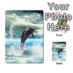 Funny Dolphin Jumping By A Heart Made Of Water Multi-purpose Cards (Rectangle)