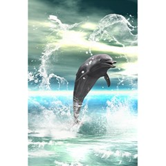 Funny Dolphin Jumping By A Heart Made Of Water 5.5  x 8.5  Notebooks