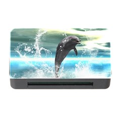 Funny Dolphin Jumping By A Heart Made Of Water Memory Card Reader With Cf