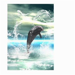 Funny Dolphin Jumping By A Heart Made Of Water Large Garden Flag (Two Sides)