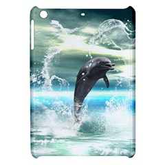 Funny Dolphin Jumping By A Heart Made Of Water Apple iPad Mini Hardshell Case