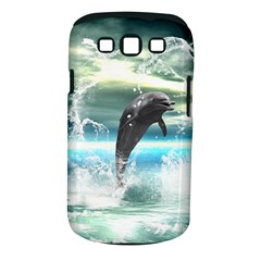 Funny Dolphin Jumping By A Heart Made Of Water Samsung Galaxy S III Classic Hardshell Case (PC+Silicone)