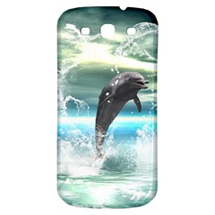 Funny Dolphin Jumping By A Heart Made Of Water Samsung Galaxy S3 S III Classic Hardshell Back Case