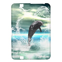 Funny Dolphin Jumping By A Heart Made Of Water Kindle Fire HD 8.9