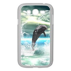 Funny Dolphin Jumping By A Heart Made Of Water Samsung Galaxy Grand DUOS I9082 Case (White)