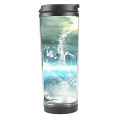 Funny Dolphin Jumping By A Heart Made Of Water Travel Tumblers
