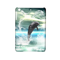 Funny Dolphin Jumping By A Heart Made Of Water iPad Mini 2 Hardshell Cases