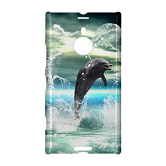 Funny Dolphin Jumping By A Heart Made Of Water Nokia Lumia 1520