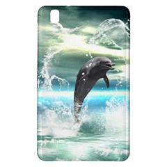 Funny Dolphin Jumping By A Heart Made Of Water Samsung Galaxy Tab Pro 8 4 Hardshell Case