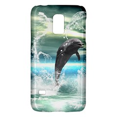 Funny Dolphin Jumping By A Heart Made Of Water Galaxy S5 Mini