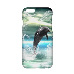 Funny Dolphin Jumping By A Heart Made Of Water Apple iPhone 6/6S Hardshell Case
