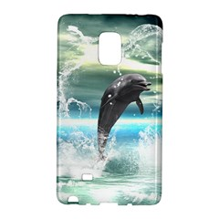 Funny Dolphin Jumping By A Heart Made Of Water Galaxy Note Edge