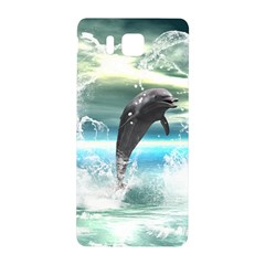 Funny Dolphin Jumping By A Heart Made Of Water Samsung Galaxy Alpha Hardshell Back Case