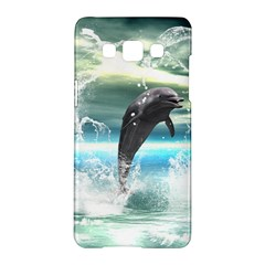 Funny Dolphin Jumping By A Heart Made Of Water Samsung Galaxy A5 Hardshell Case