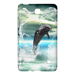Funny Dolphin Jumping By A Heart Made Of Water Samsung Galaxy Tab 4 (7 ) Hardshell Case