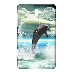 Funny Dolphin Jumping By A Heart Made Of Water Samsung Galaxy Tab S (8.4 ) Hardshell Case