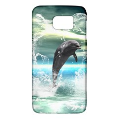 Funny Dolphin Jumping By A Heart Made Of Water Galaxy S6