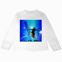 Snowboarding Kids Long Sleeve T Shirts