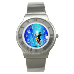 Snowboarding Stainless Steel Watches