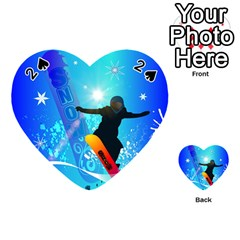 Snowboarding Playing Cards 54 (Heart)
