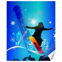 Snowboarding Canvas 11  X 14