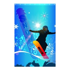 Snowboarding Shower Curtain 48  x 72  (Small)