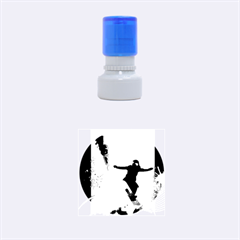 Snowboarding Rubber Round Stamps (small)