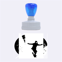 Snowboarding Rubber Oval Stamps