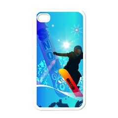 Snowboarding Apple iPhone 4 Case (White)
