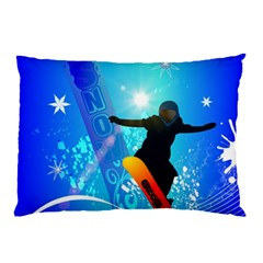 Snowboarding Pillow Cases (two Sides)