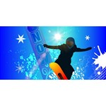 Snowboarding Best Friends 3D Greeting Card (8x4)  Front