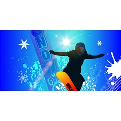 Snowboarding YOU ARE INVITED 3D Greeting Card (8x4)
