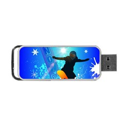 Snowboarding Portable Usb Flash (two Sides)