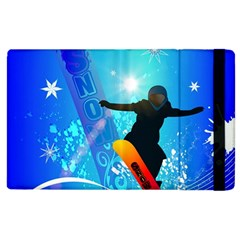 Snowboarding Apple iPad 2 Flip Case