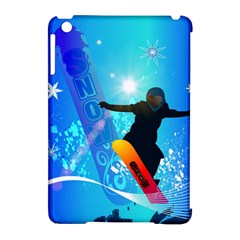 Snowboarding Apple iPad Mini Hardshell Case (Compatible with Smart Cover)