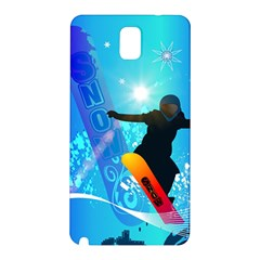 Snowboarding Samsung Galaxy Note 3 N9005 Hardshell Back Case