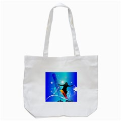Snowboarding Tote Bag (White)