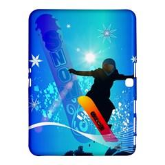 Snowboarding Samsung Galaxy Tab 4 (10 1 ) Hardshell Case
