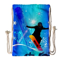 Snowboarding Drawstring Bag (Large)