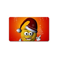 Cute Funny Christmas Smiley With Christmas Tree Magnet (Name Card)
