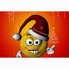 Cute Funny Christmas Smiley With Christmas Tree Collage 12  x 18