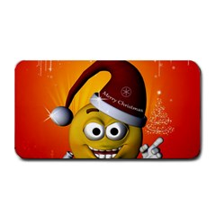 Cute Funny Christmas Smiley With Christmas Tree Medium Bar Mats
