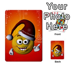 Cute Funny Christmas Smiley With Christmas Tree Multi Purpose Cards (rectangle)