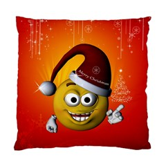 Cute Funny Christmas Smiley With Christmas Tree Standard Cushion Cases (Two Sides)
