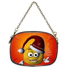 Cute Funny Christmas Smiley With Christmas Tree Chain Purses (Two Sides)