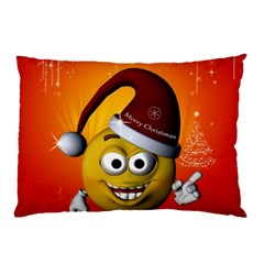 Cute Funny Christmas Smiley With Christmas Tree Pillow Cases