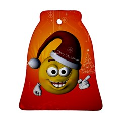 Cute Funny Christmas Smiley With Christmas Tree Ornament (bell)