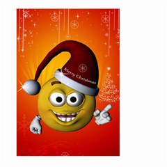 Cute Funny Christmas Smiley With Christmas Tree Large Garden Flag (Two Sides)