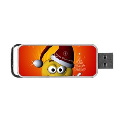 Cute Funny Christmas Smiley With Christmas Tree Portable Usb Flash (one Side)